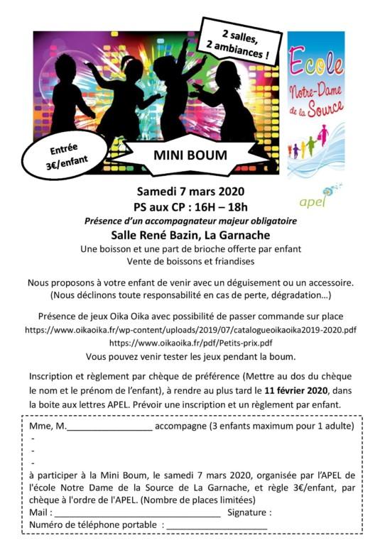 Mini Boum et Boum party @ Salle René Bazin